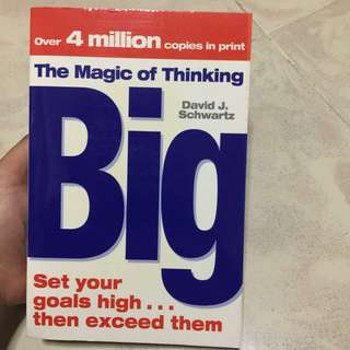 📚BOOK SALE / BOOK CLEARANCE 📚 The Magic of Thinking Big by David J Schwartz