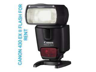 (FOR RENT) - CANON 430 EX II FLASH