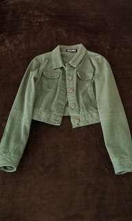 Forever 21 Green Denim Jacket