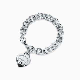 Tiffany 刻名愛心手鍊