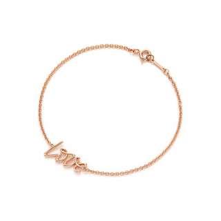 Tiffany 玫瑰金LOVE手鍊