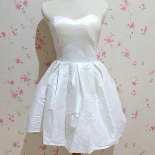 Short White dress #mausupreme