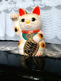 Money cat...as money box. Made in Japan.