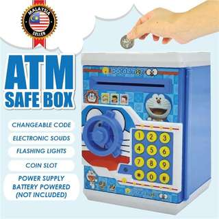 Kids Electronic Note Safe Box Password Saving ATM Machine Money Box