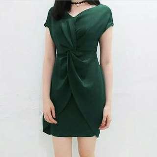 Dress hijau mini