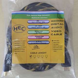 HEC,HDMI,AV,Cable,1.5m