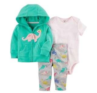 *24M* BN Carter's 3-Piece Little Jacket Set For Baby Girl