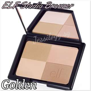 INSTOCK ELF Studio Bronzer / e.l.f. Cosmetics Bronzer / ELF Studio Bronzer in GOLDEN