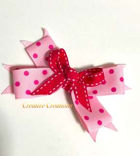 <Instock> Cute Polka Dot Hairbow