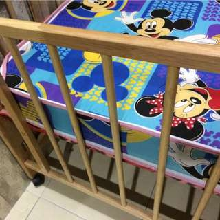 Baby bed together with mattress