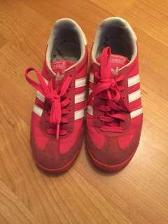 Adidas shock pink shoes