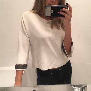 Zara flare sleeve knit crop