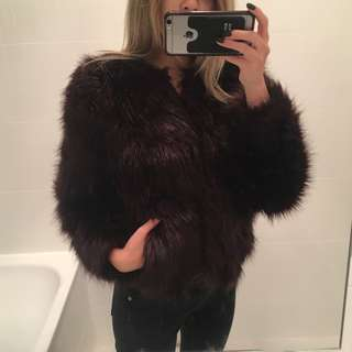 H&M Fluffy Faux Fur Coat Jacket