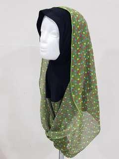 💝T159 tudung slip on hijab hoodie