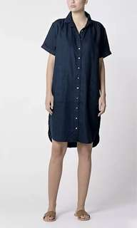Trenery Linen Shirt Dress XS/S 6, 8 RRP $180