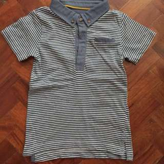 Collared striped shirt for toddlers