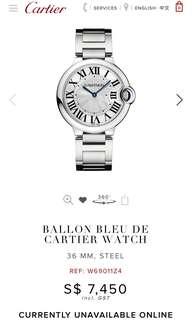Authentic BALLON BLEU DE CARTIER WATCH