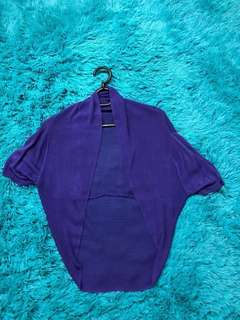 Purple mid-waist cardigan. Chiffon in material. Brand new. Good condition.