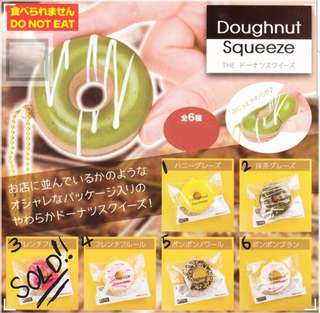 The Doughnut Squeeze Squishy Keychain Gachapon / Gashapon from Japan