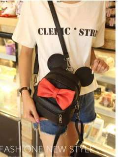 Mickey backpack 💰430  ✅leather ✅10 inch ✅2 colors *n.j