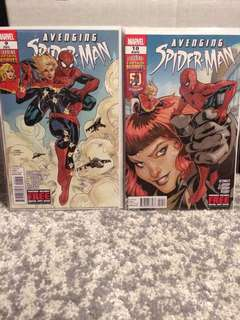Avenging Spiderman #9 and #10 (First Carol Danvers as Captain Marvel)