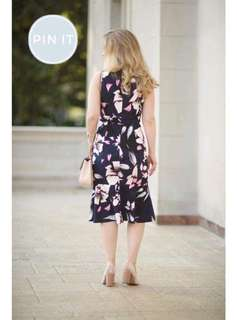🌸390 🌺U.s floral dress ( plus size )  🌻crepon 💐one color 🌷fit M to xL (One Size) 🎀Good Quality 💕 *c.o.u