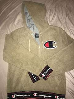 Champion Teddy Bear Fleece Half Zip Hoodie (M)
