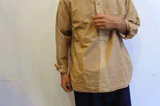■ IFNi ROASTING & CO. × LIVING CONCEPT  COFFEE DYED BAND COLLAR SHIRT