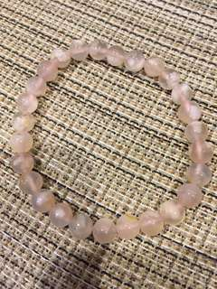 天然寶石-櫻花瑪瑙珠串