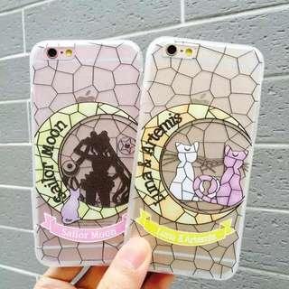 日本直送!美少女戰士磨砂透明iPhone case