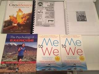 Early childhood, psychology, English, and APA books