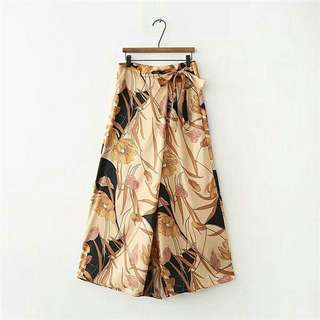 Golden Flower Wide Leg Trousers