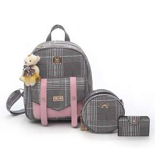 K-Backpack Plaid 3in1