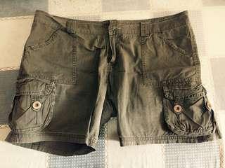 Army Green Walking Shorts
