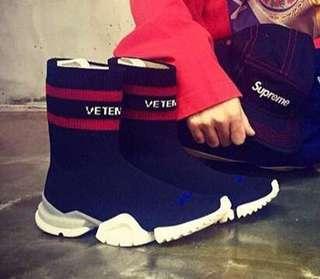 超特價!限售女鞋 - Vetements x reeboks 女裝襪子鞋