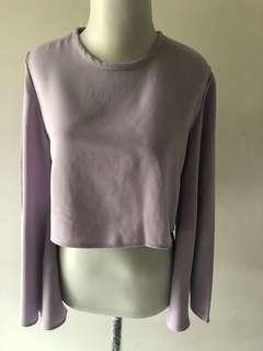 Crop top warna ungu