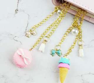Ice Cream and Macaron Notebook Decoration Accessory