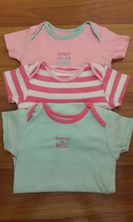 9-12m Mothercare Bodysuits set of 3