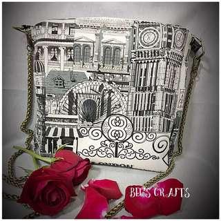 Handmade Weekend sling bag