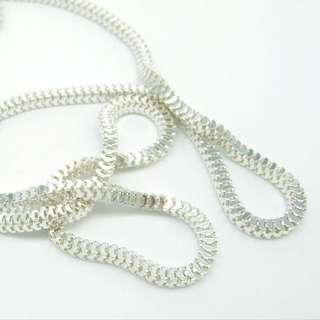 925 silver long necklace