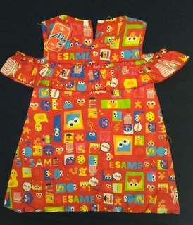 Dress Anak Sabrina Red Sesame Street