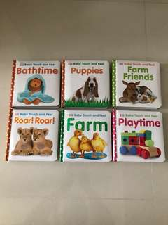 Take All 6 for $50 or 2 for $17- DK Baby Touch and Feel Book (Bathtime/ Puppies/ Farm Friends/ Playtime/ Farm/ Roar! Roar!)