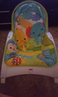 Babys rocking chair with vibrating