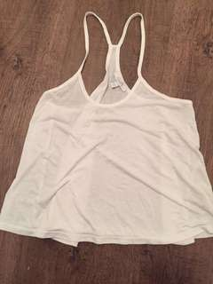 White crop tank top size small