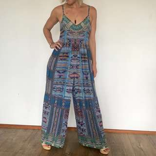 Camilla - Franks Stitch of the Condor - Wide Leg Jumpsuit - Size 8/10 - RRP $549
