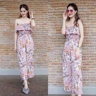 🔴Tube floral jumpsuit