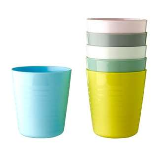 NEW COLOR IKEA 6pc Assorted Color Cups (Australia)