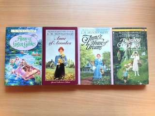L.M. Montgomery All 4: Anne of Green Gables Anne of Avonlea Anne's House of Dreams Rainbow Valley