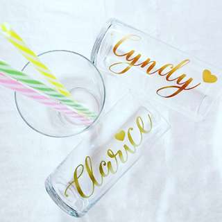 Glass Cup with FREE Personalisation for Bridesmaid Gift