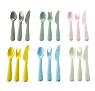 NEW COLOR IKEA 18pc Assorted Color Cutlery Set (Australia)